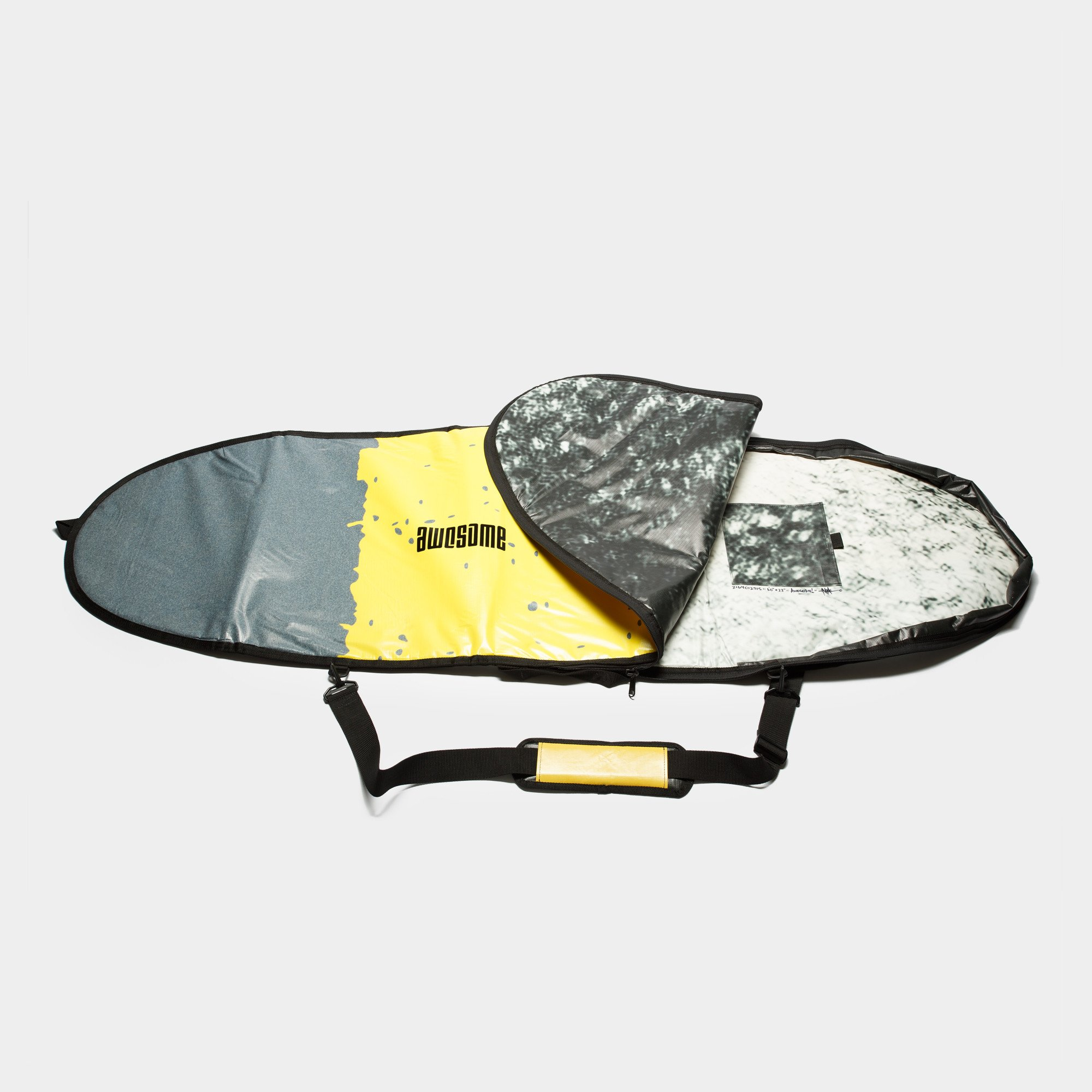 6'0 Awesome x The Progress Project Boardbag - Grey